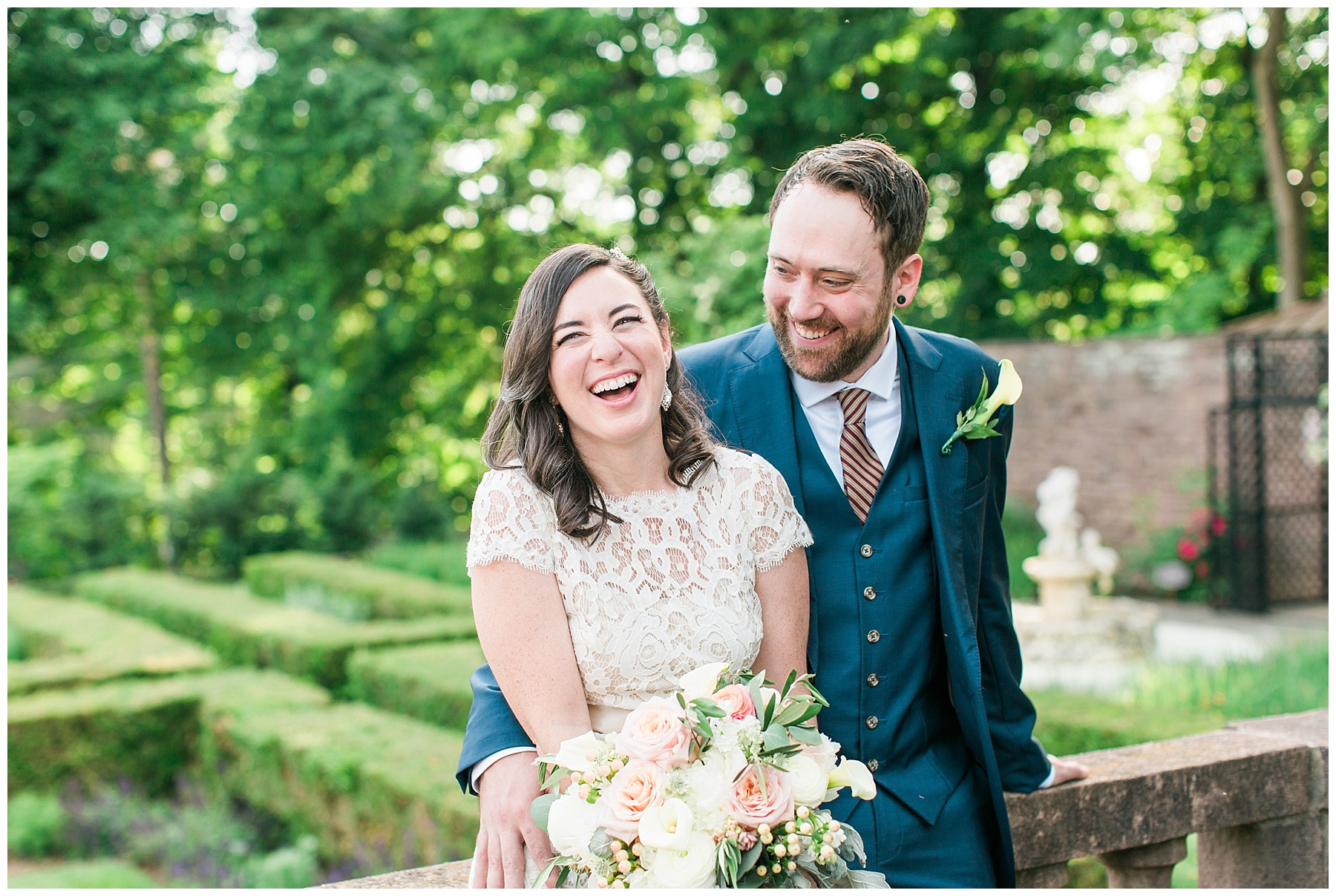 whimsical summer garden wedding | Tyler Gardens, Newtown PA