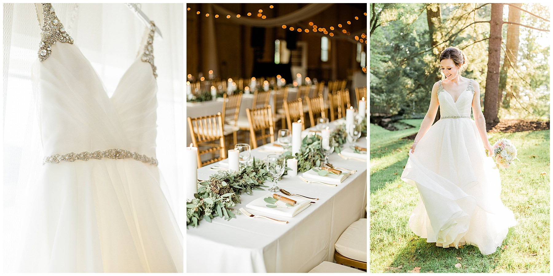 Glamorous October Barn Wedding