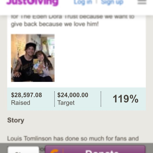 $28,500+ raised for the @edendoratrust !! Wow! This has exceeded our wildest dreams as we are at 119%. At the beginning of December our numbers were low but everyone always pulls through in 1D Fans Give land!! Thank you so much to Tricia and Jo, our Team Louis leads who worked so hard to pull this off. A huge thank you to our brave leader Amy, our queen Ariel and Beth. All our other team leads worked hard as well, and endless thanks also goes to all the quilters, artists, people who did #24daysoflouis and all the wonderful people on social media that helped promote our work. We could not have done it without any of you. Thank you a million!  Last but not least, a huge thank you goes to our one and only @louist91  None of this would be possible without you and your sweet heart. Happiest of birthdays darling! May there be many more to come!  We love you @edendoratrust ! Here's your Christmas present. 😊