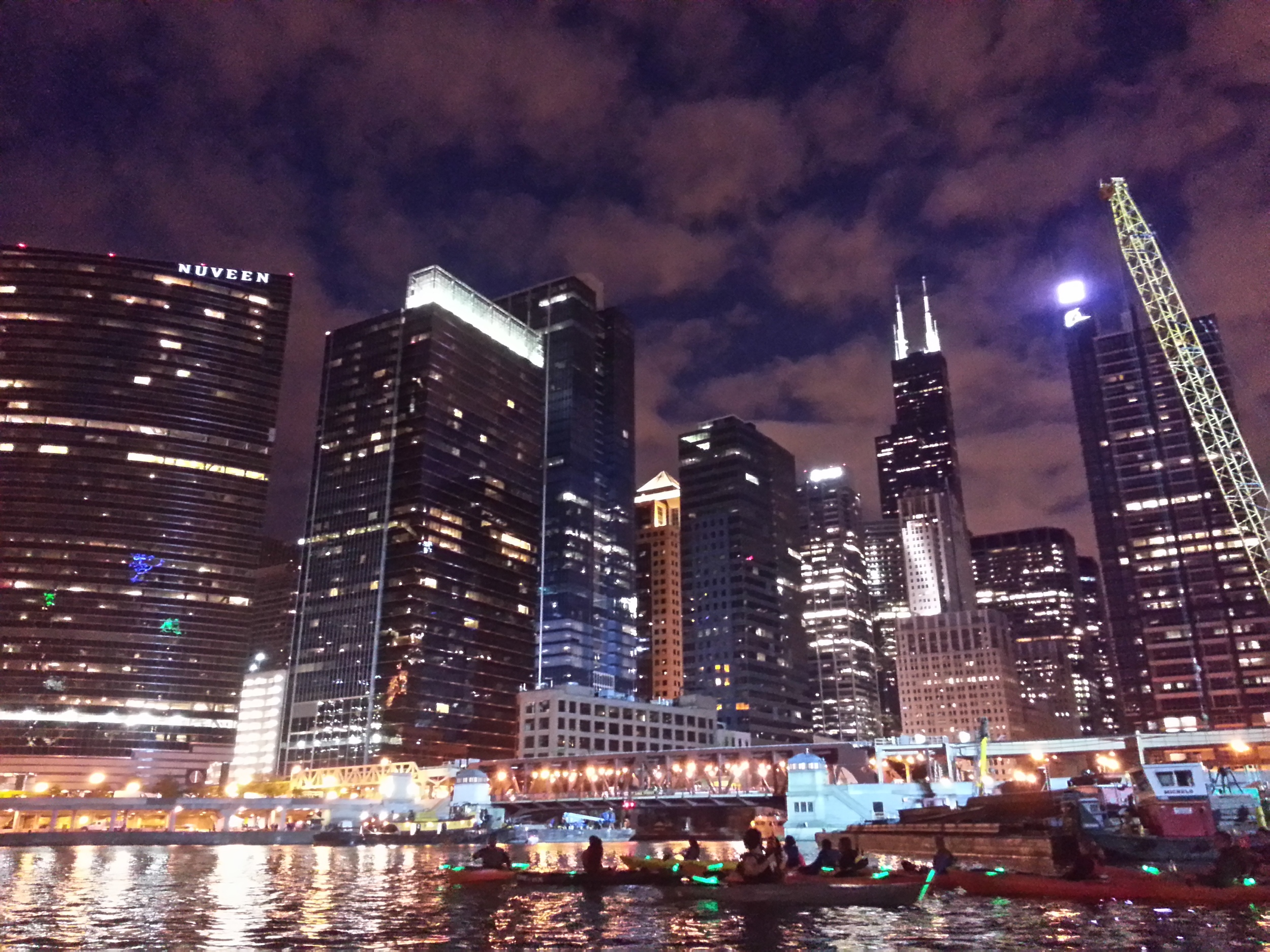 Chicago from a kayak