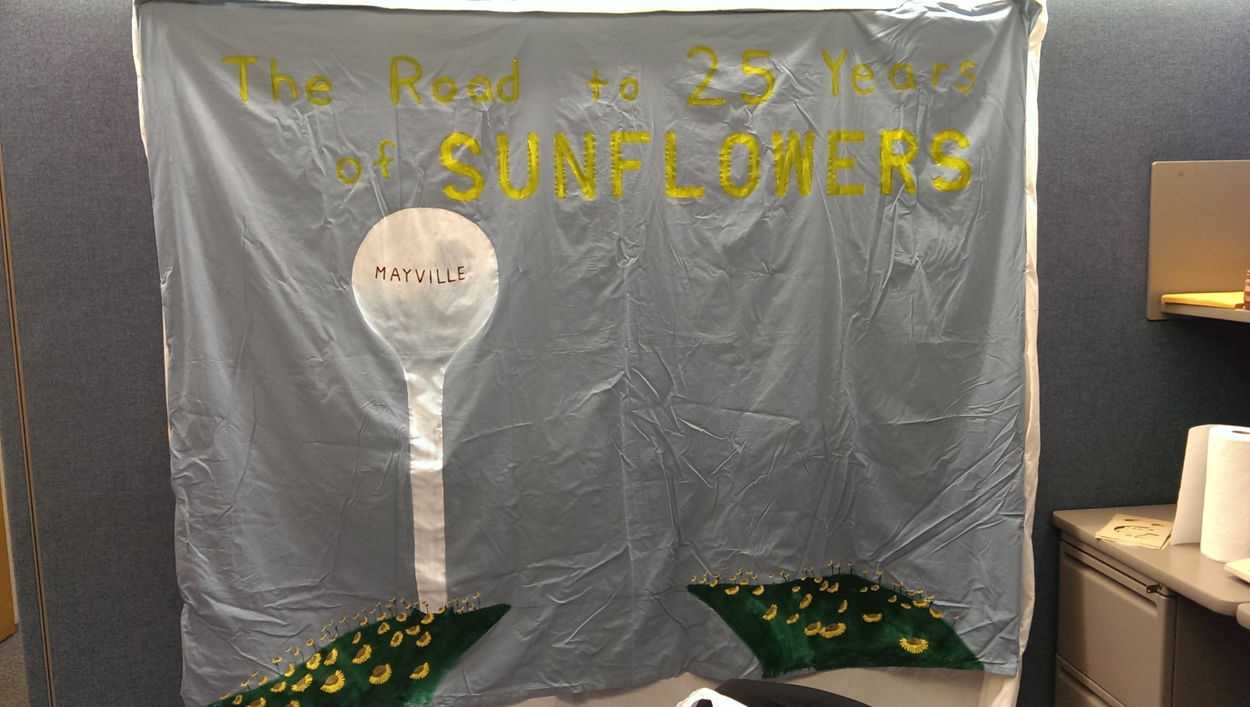 The finished backdrop.