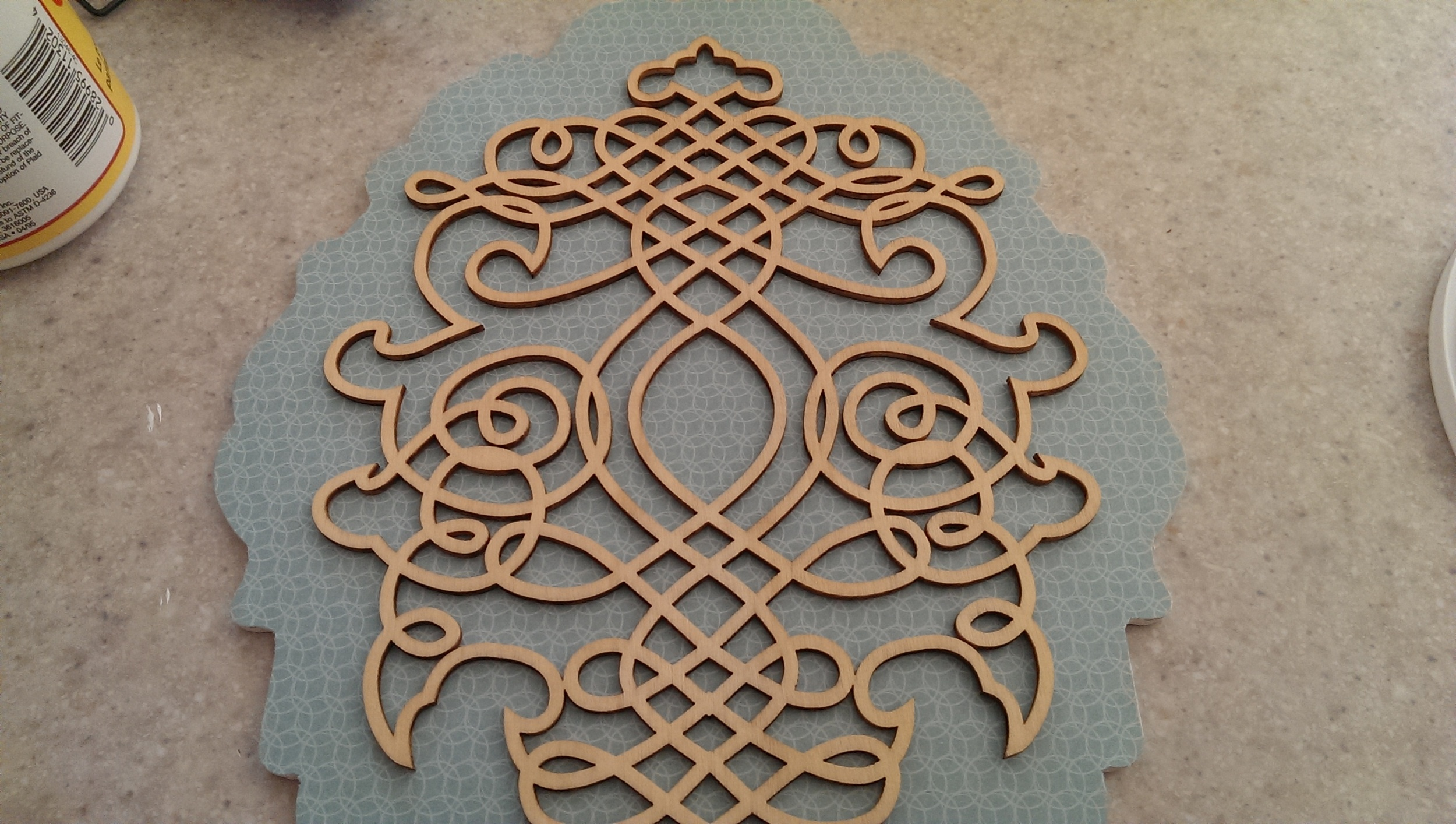 Time to apply the scroll work.