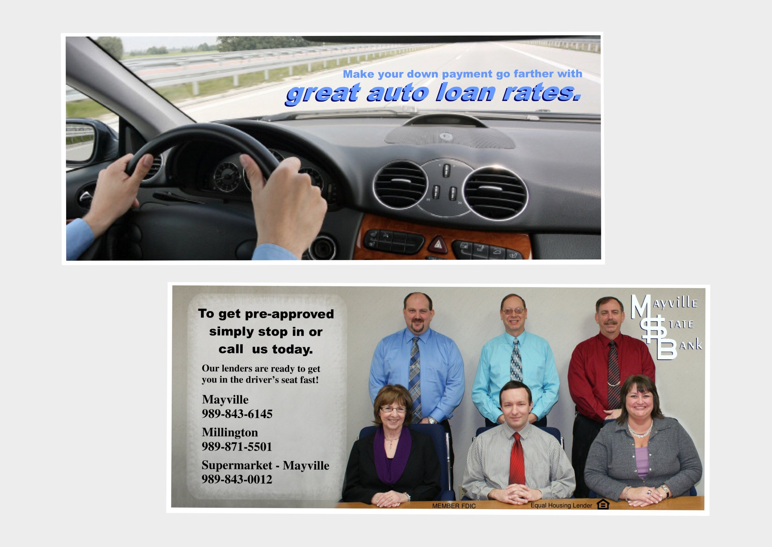 Auto Loan statement stuffer