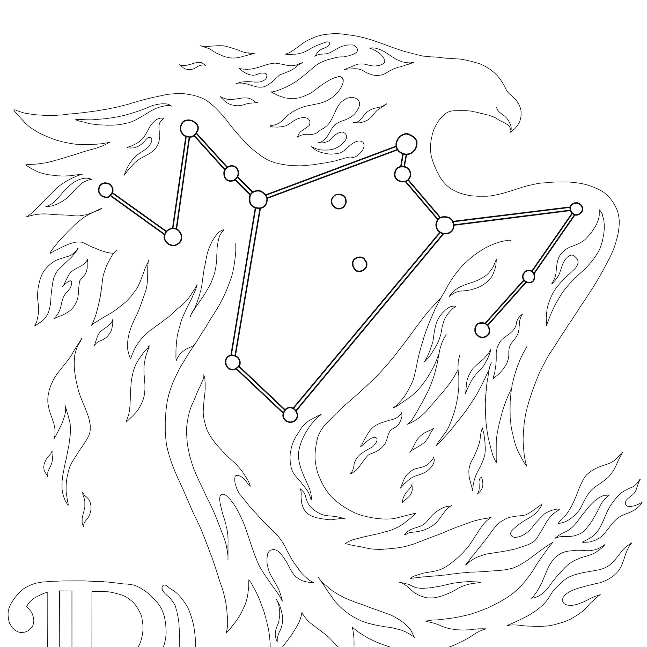 There are many mythical creatures in the sky around us. Three of them are featured in my Constellations coloring pages set.