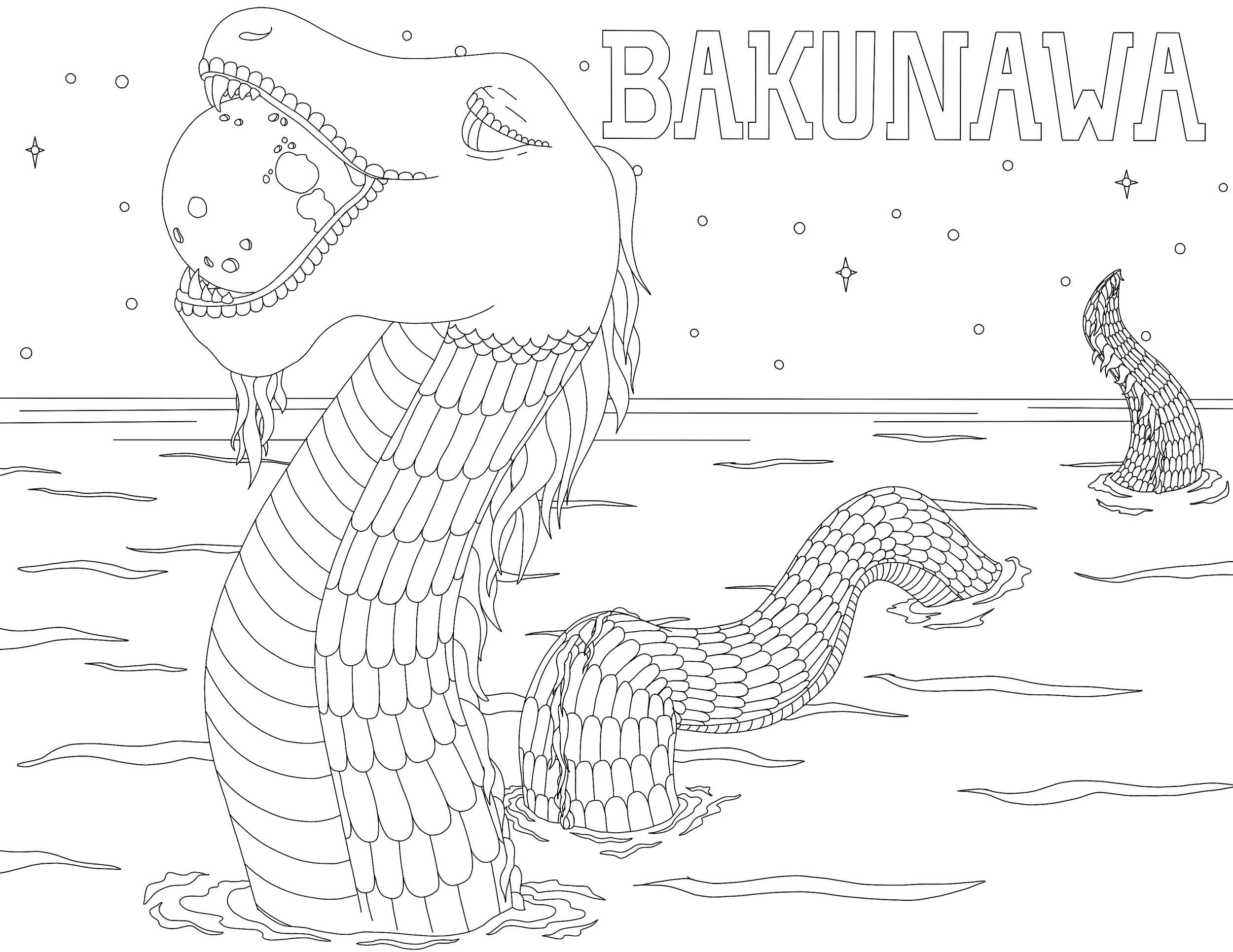 The Bakunawa is a Dragon from Phillippine mythology. This sea serpent was responsible for lunar eclipses.