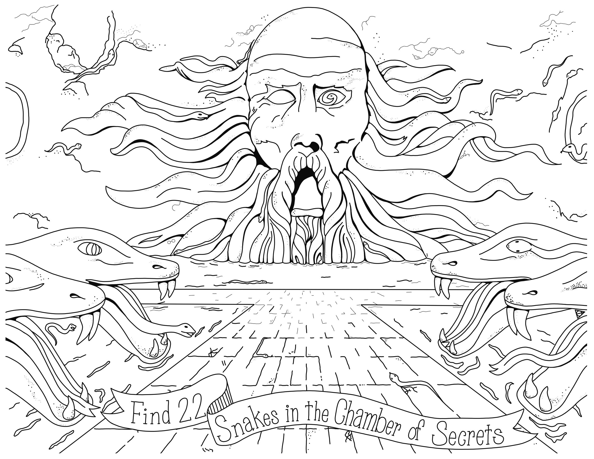 Chamber of Secrets coloring page