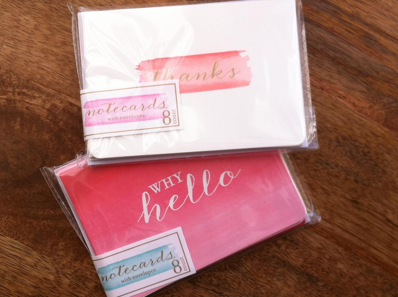 Gratefulness // DIY // Notecards // 5 O'Clock Design Co.