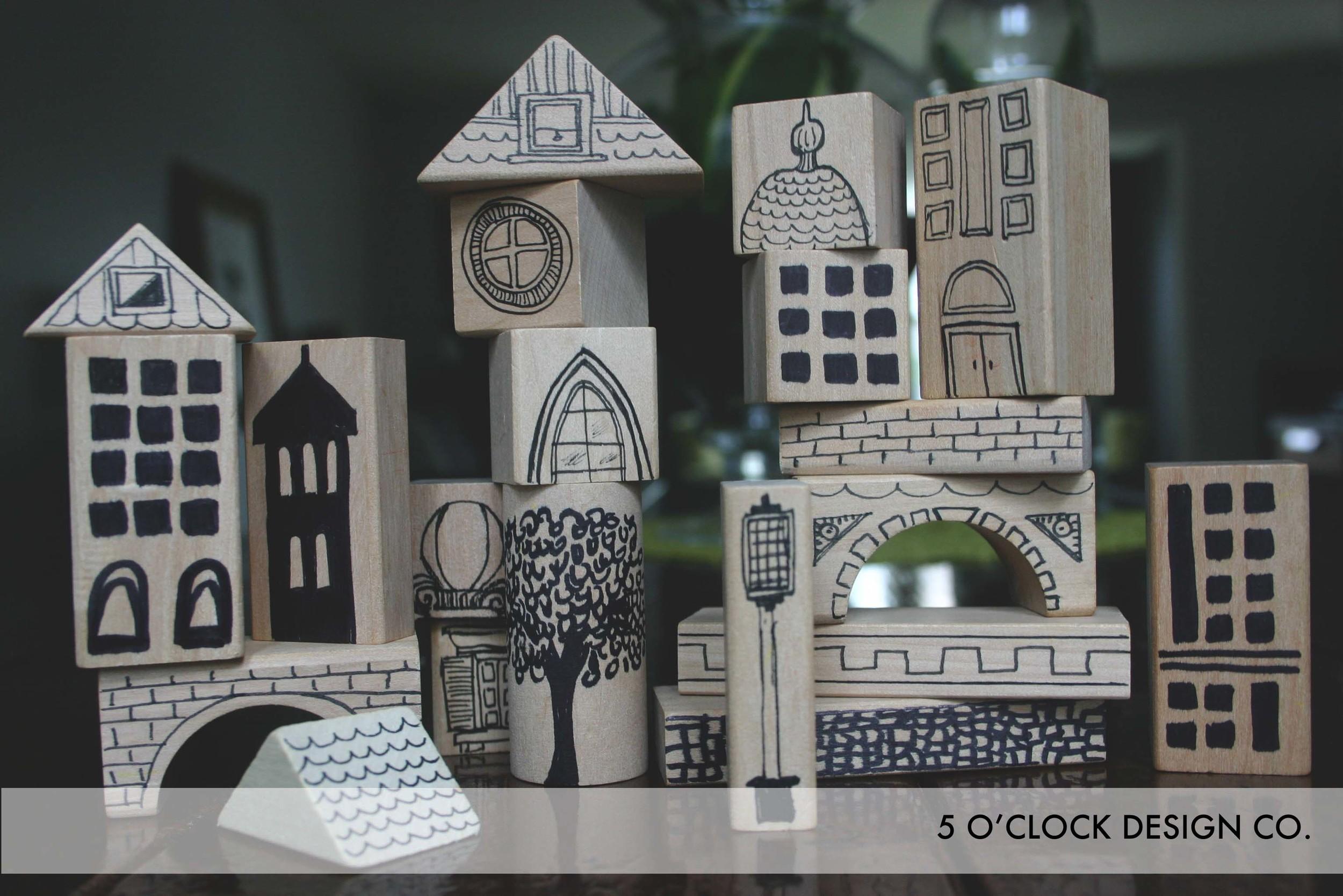 Building Blocks // DIY // Nursery // Future Architect // 5 O'Clock Design Co.