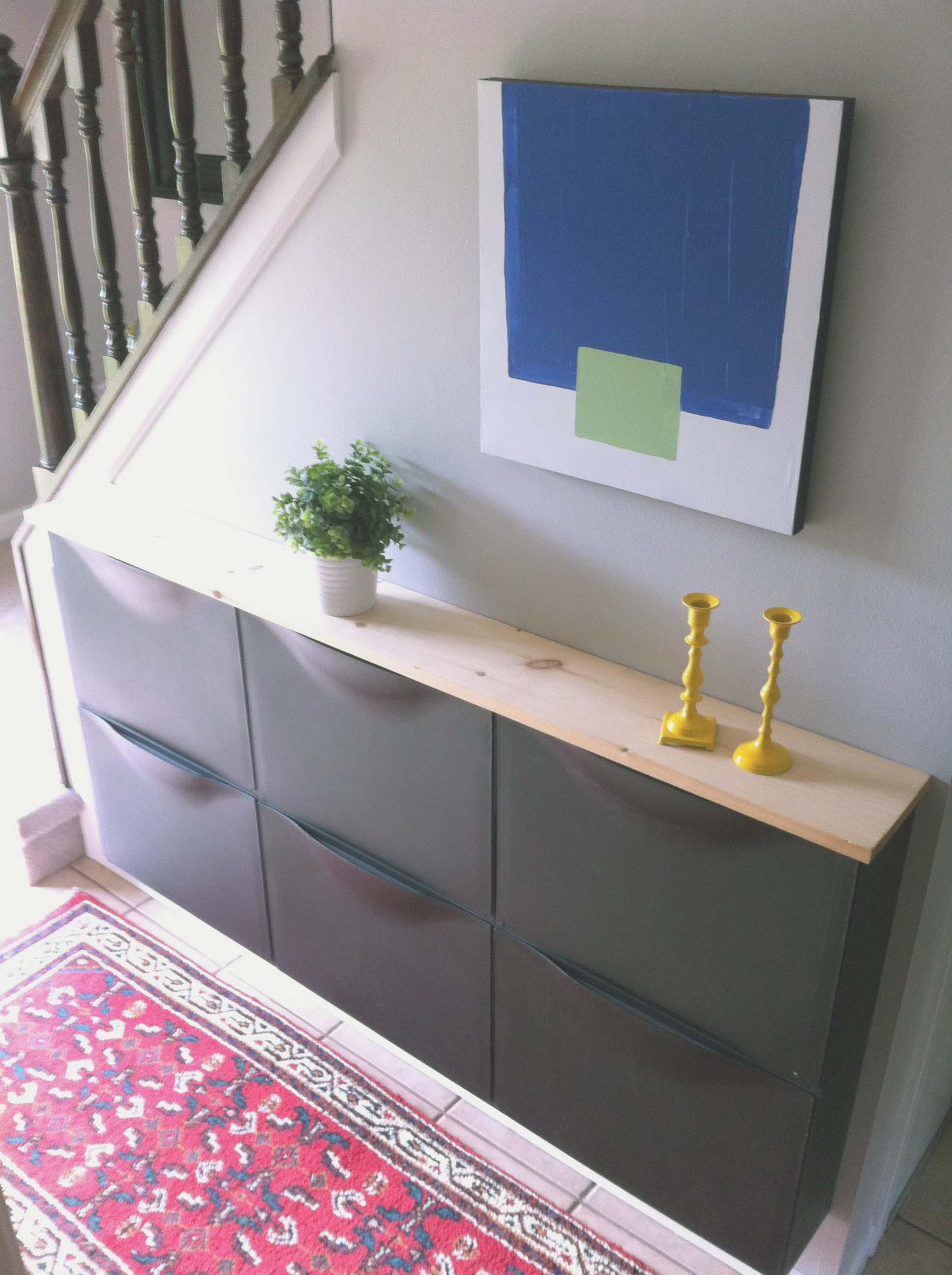 Shoe Storage // Ikea // Entryway // 5 O'Clock Design Co.