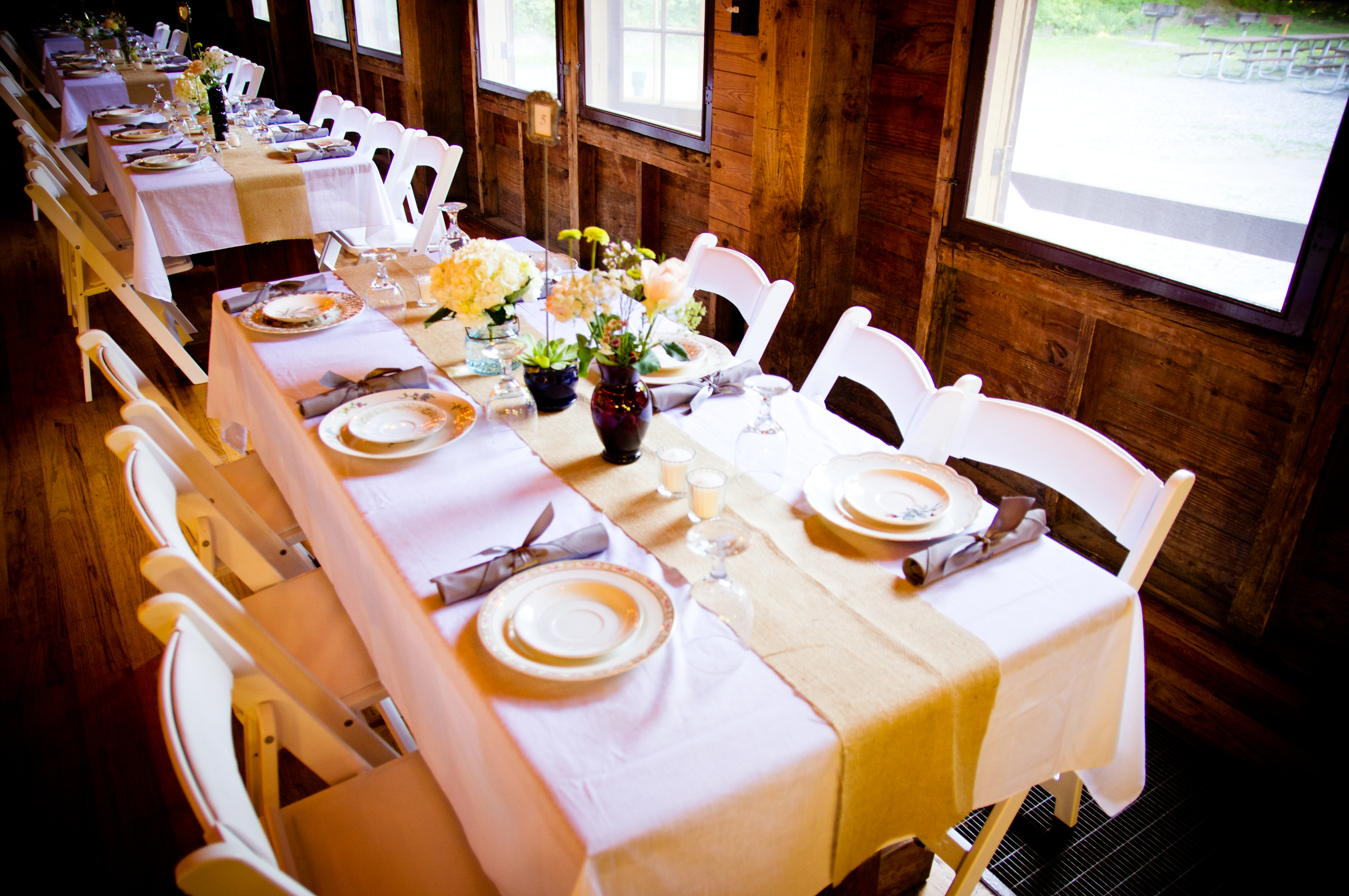 Rustic Farmhouse Wedding // Vintage Dishes //5 O'Clock Design Co.