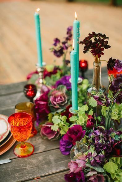 Jewel Tone Wedding // Flowers // Centerpieces
