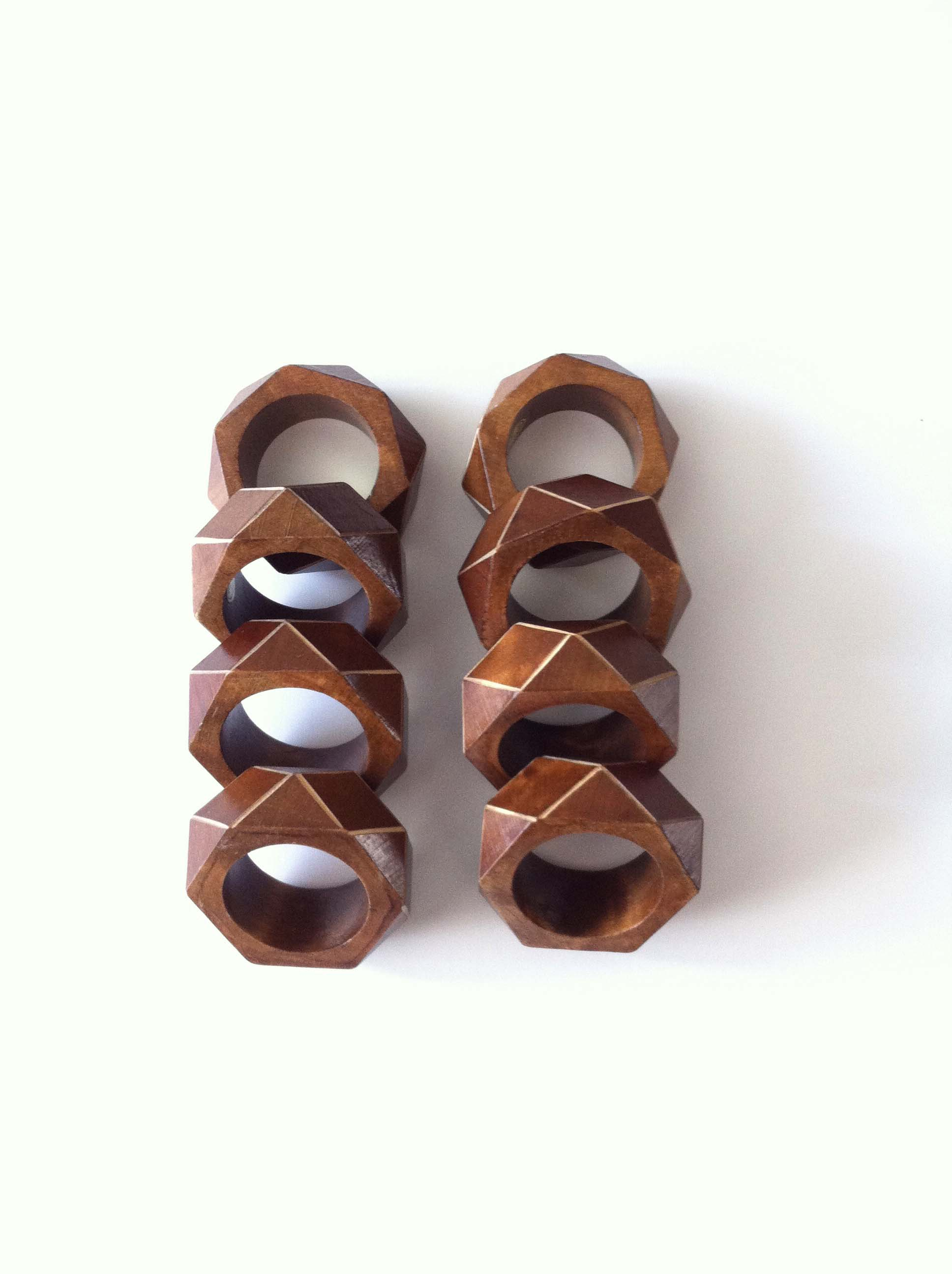 Wooden Napkin Rings for Fall