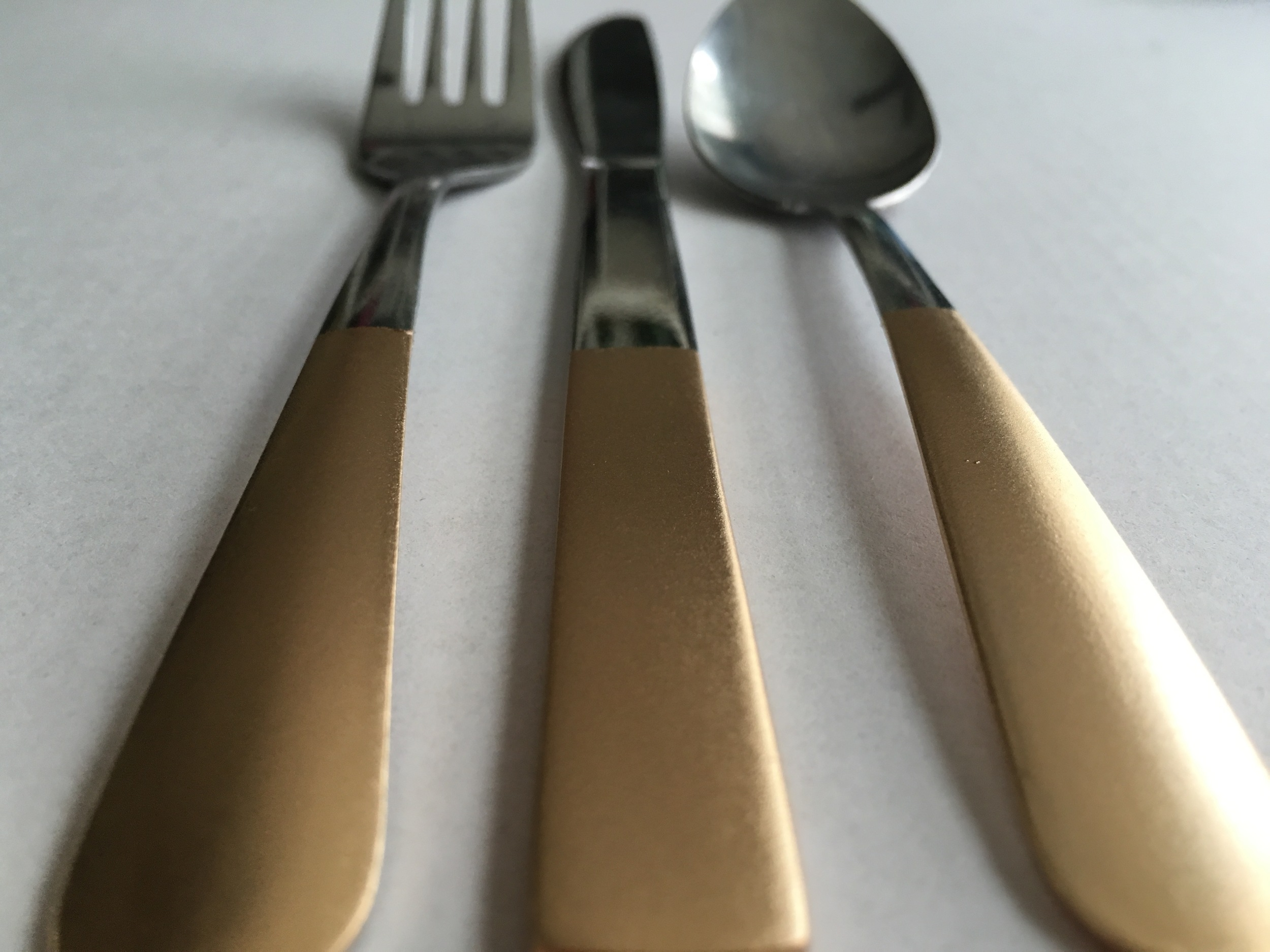 Gold Silverware for a Fall Dinner Party
