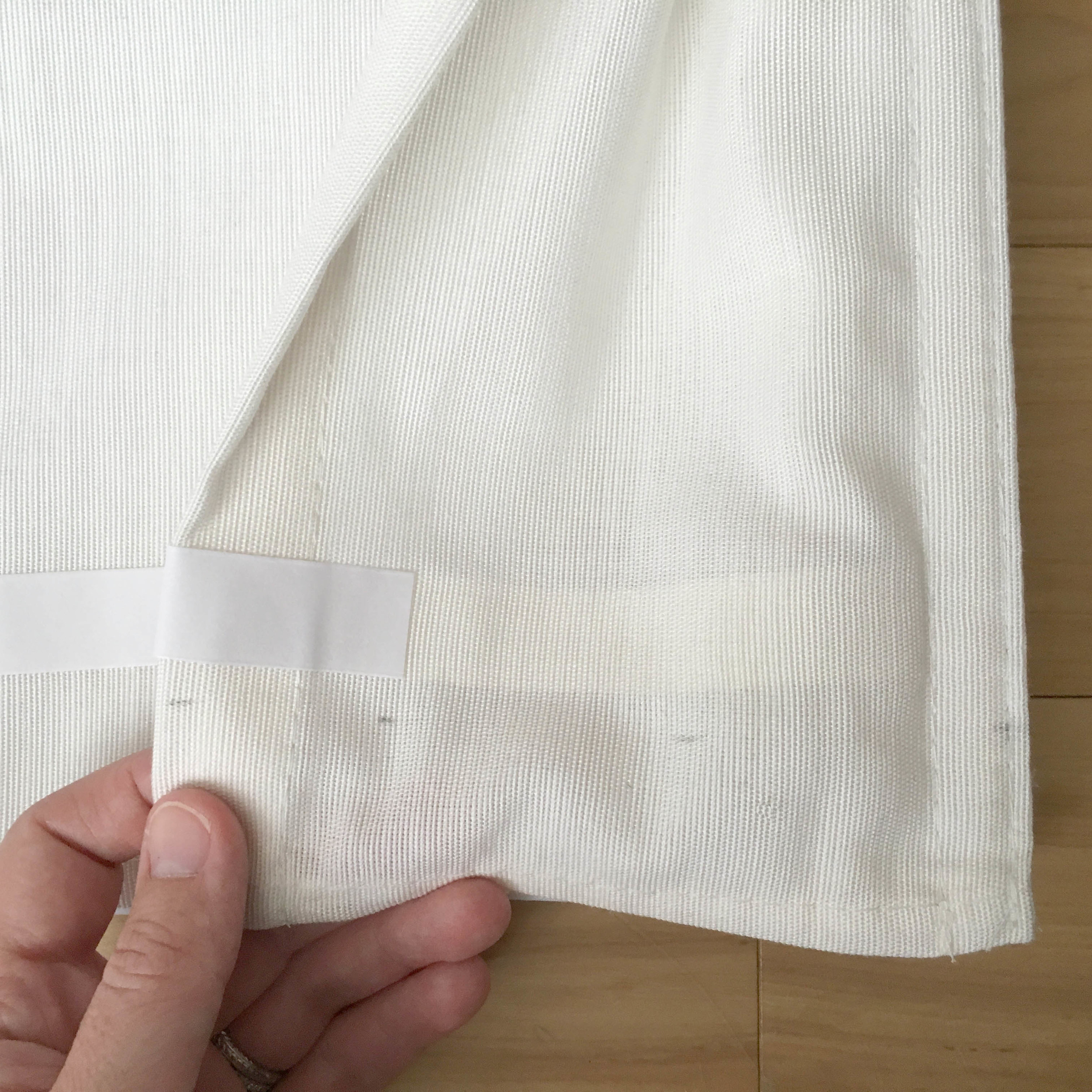 Using Double Sided Tape to Add Trim on Roman Shades