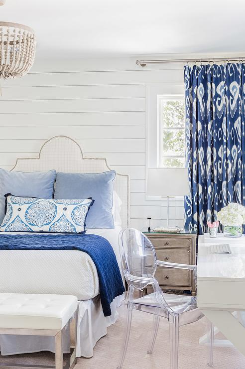 white-bedroom-blue-accents-blue-ikat-curtains-white-lacquer-desk.jpg