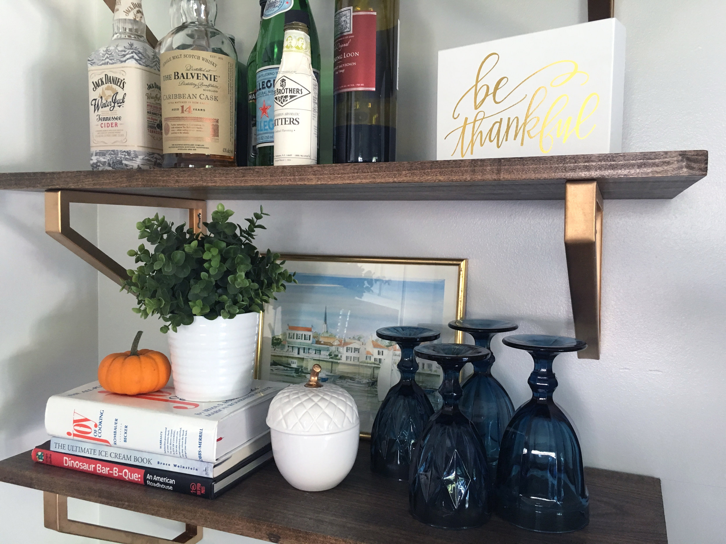 open shelving | fall decor