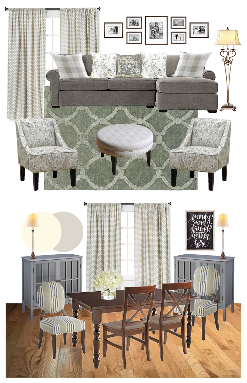 Sophisticated Living and Dining Room | Design Board | Mood Board