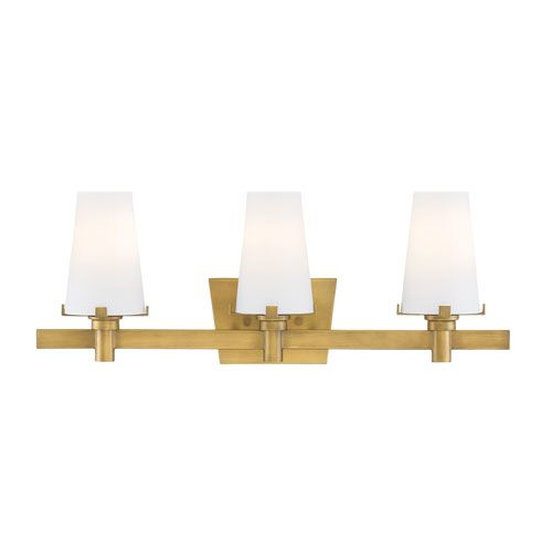 Art Deco Light Fixture | Vanity | Powder Room | Gold Light