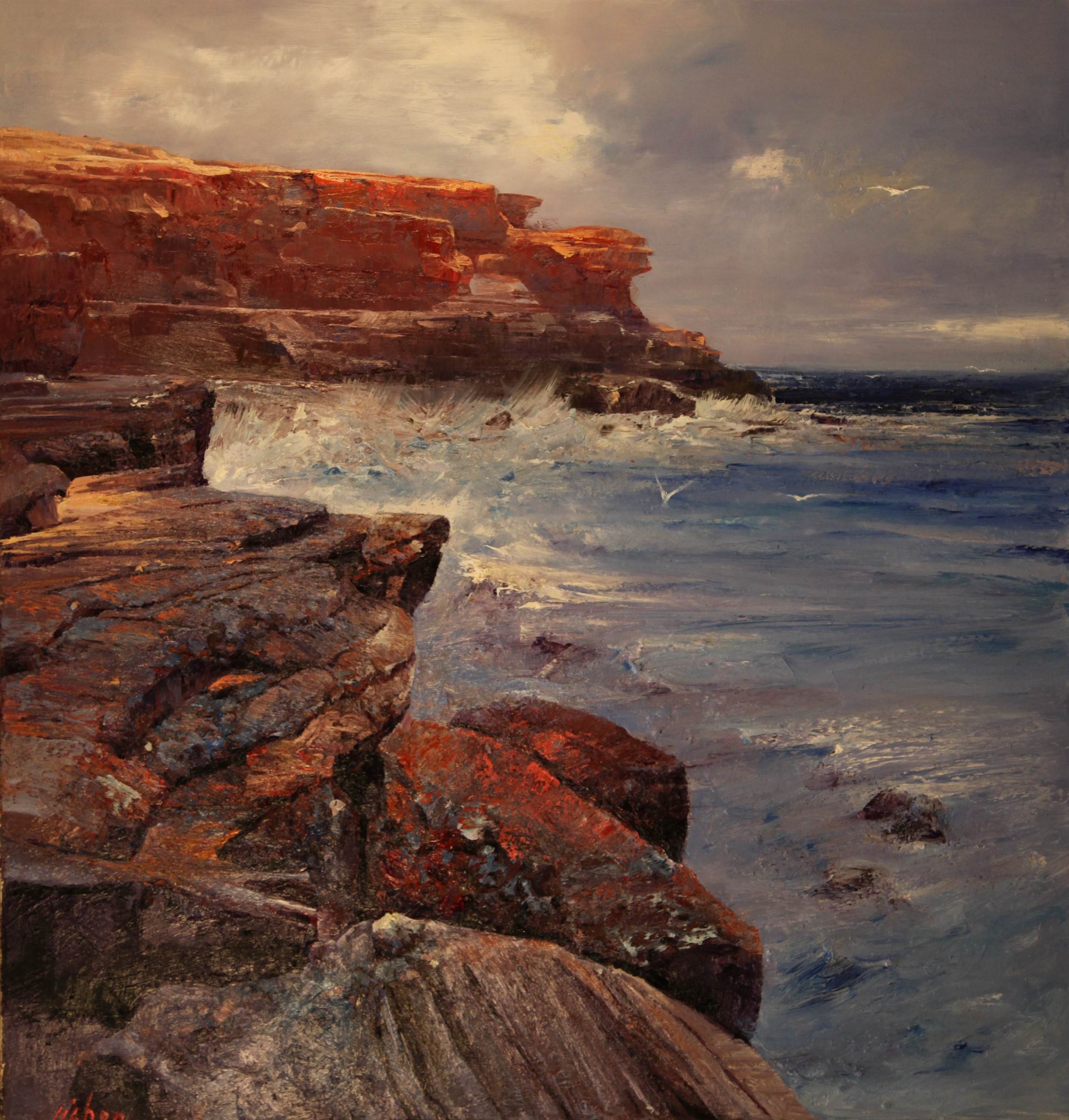 """Beach Rocks"" 150 x 160cm (Cape Solander NSW)"