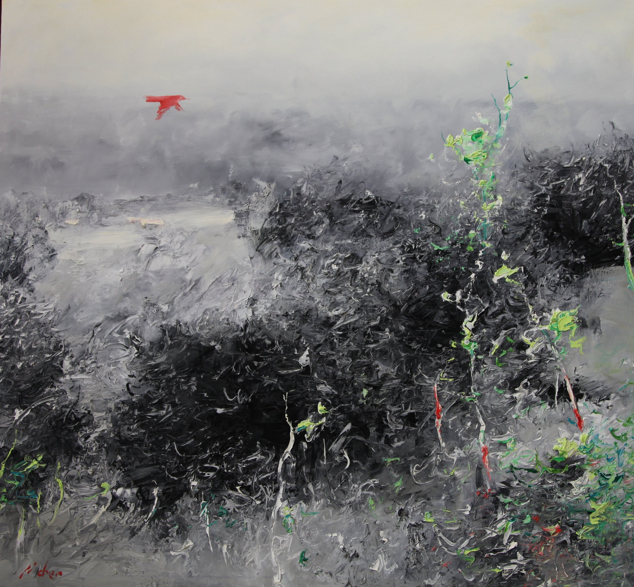 """The Valley"" 140 x 130cm"