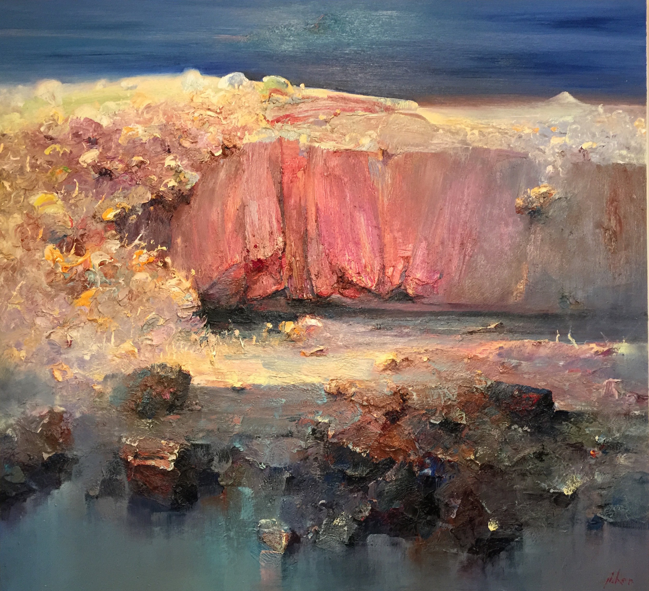 """Red Cliff"" 150 x 160cm"
