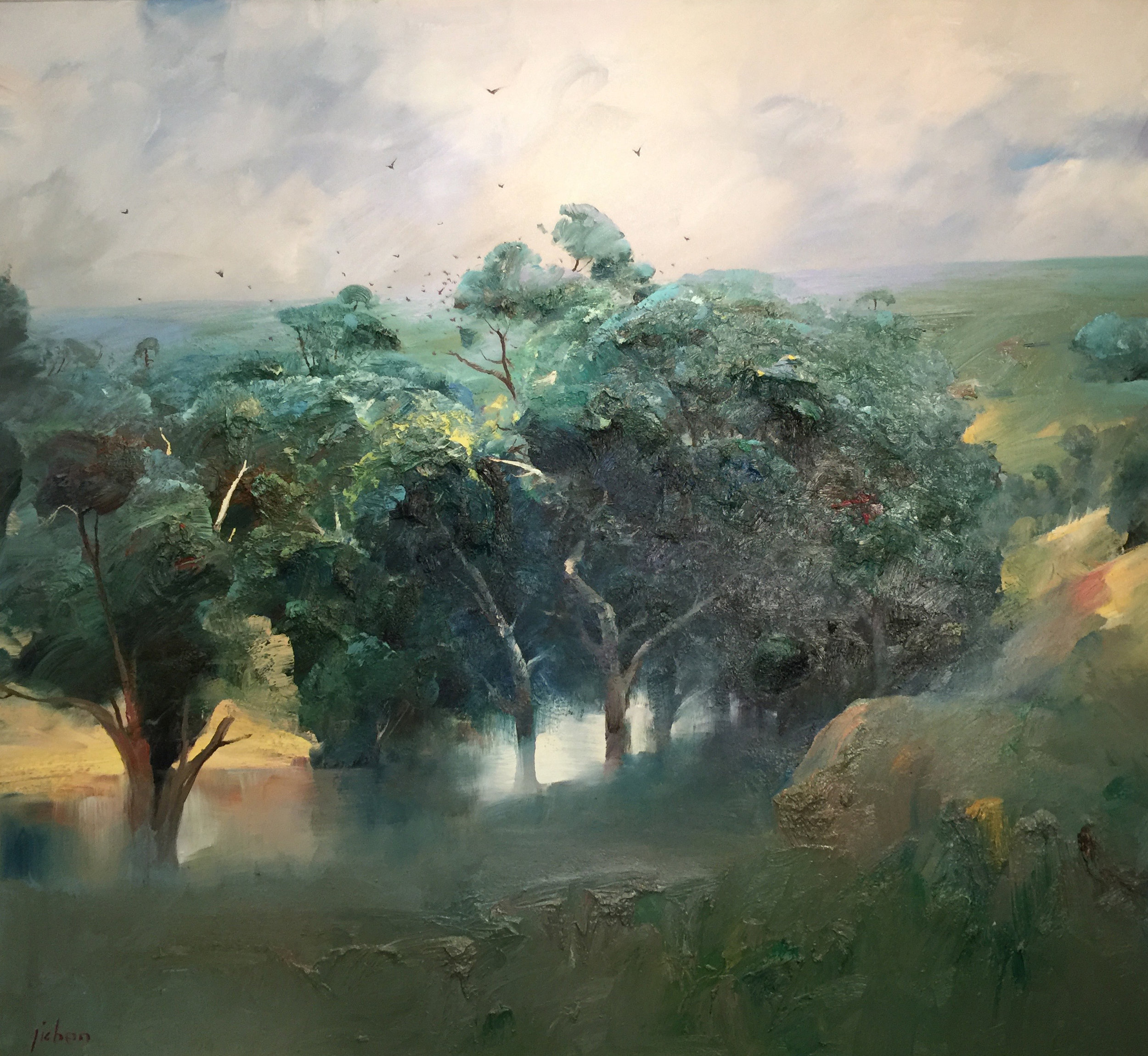"""The Green Spring"" 150 x 160cm"