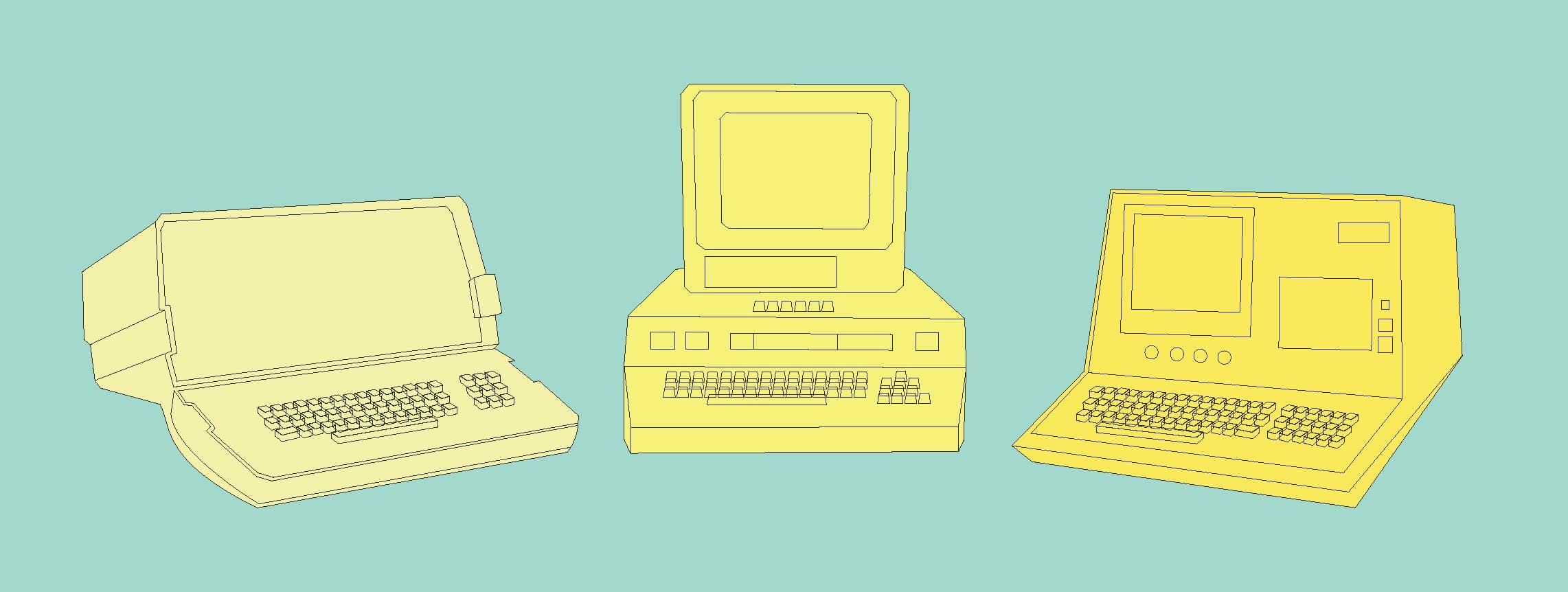 Retro Computers | Sallie Harrison Design Studio