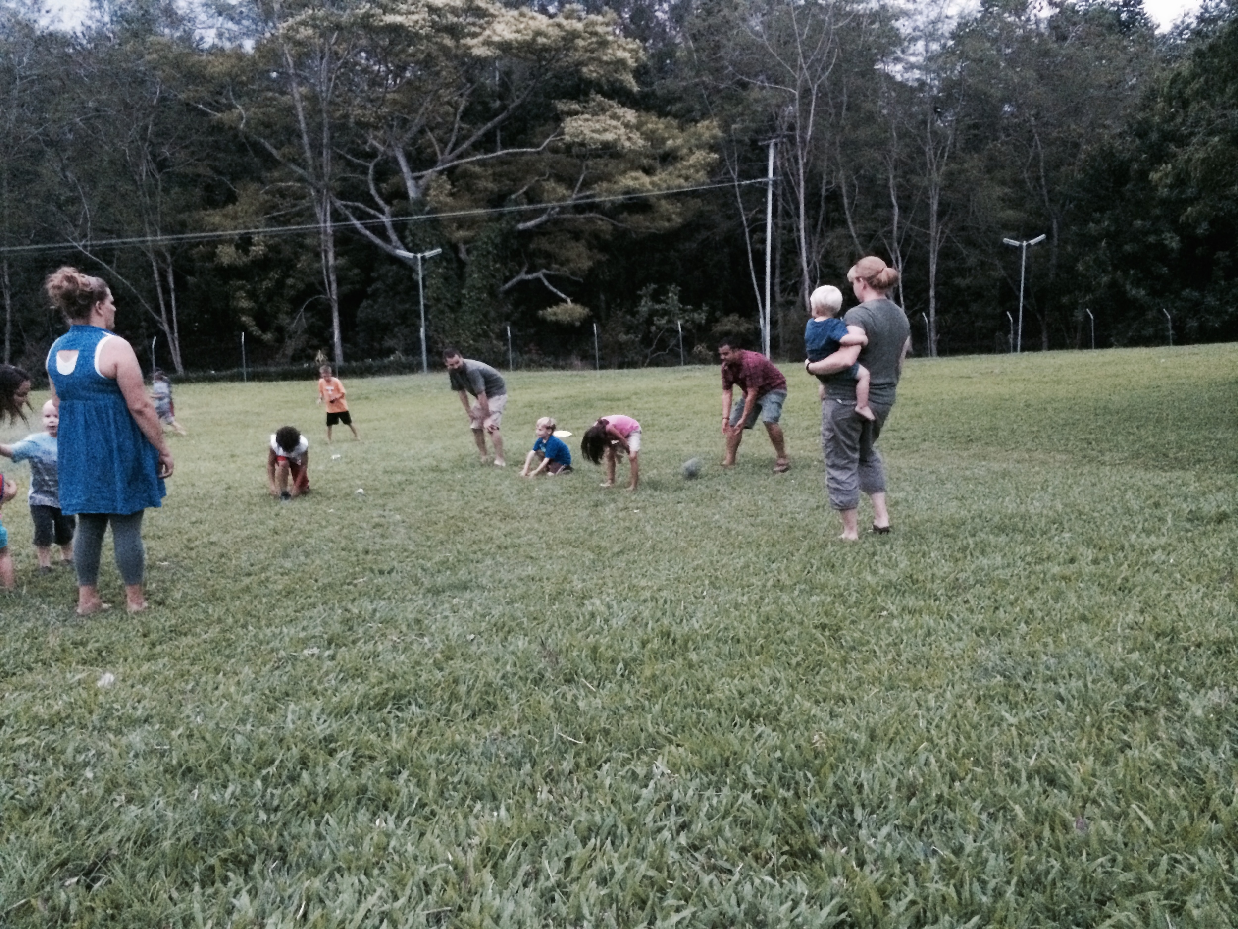 Playing some football after a nice Thanksgiving meal with new friends!