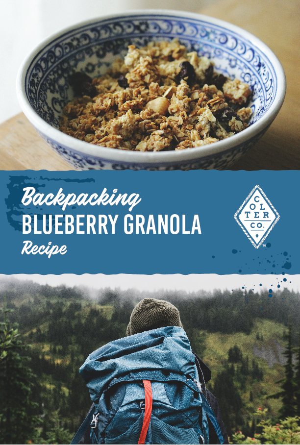Colter Co backpacking blueberry granola