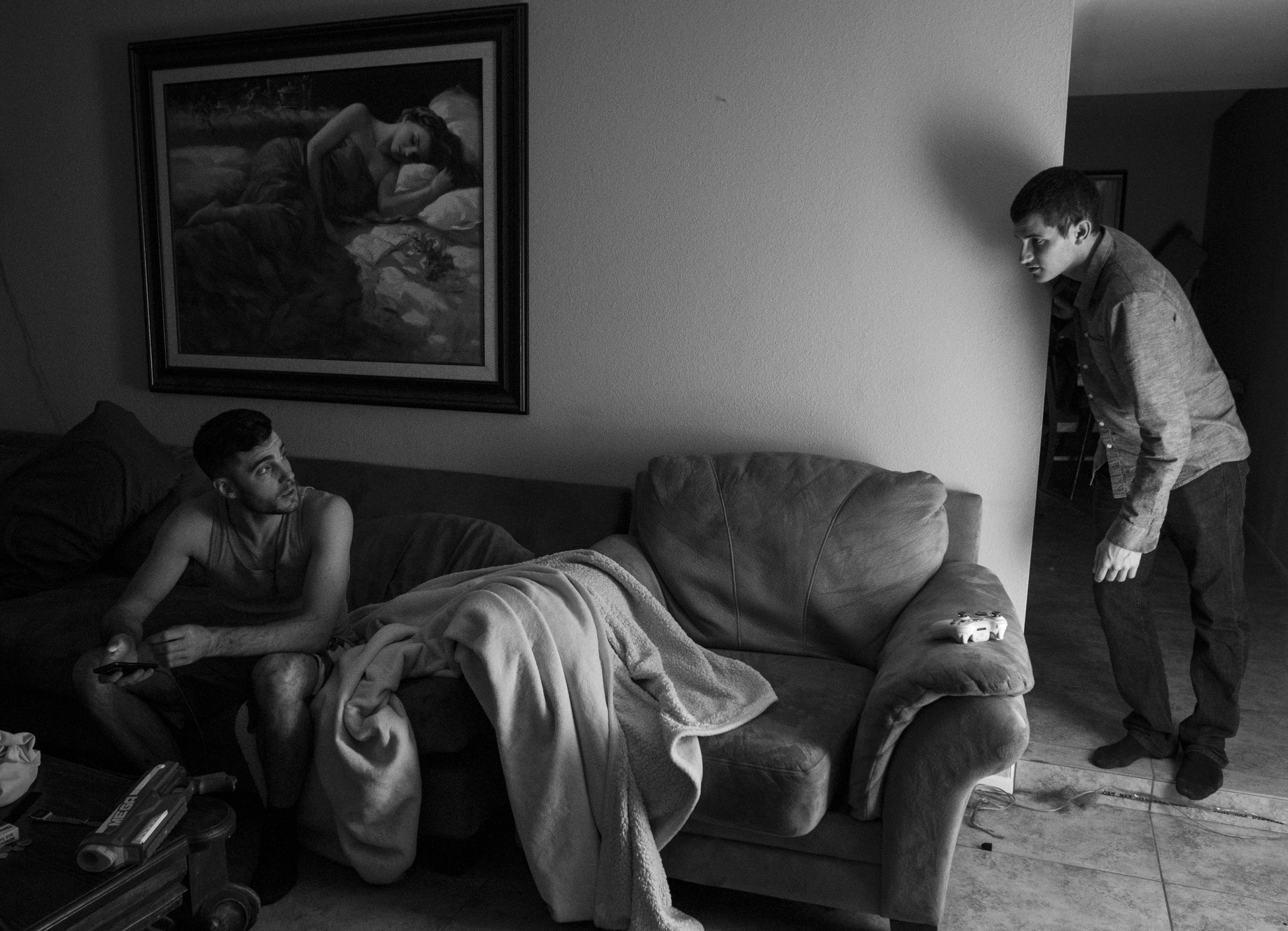After Paul's friend Devin flushed the rest of the heroin, he let Paul spend the night at his house. Paul said that after he relapsed that Monday, he stayed at Dezarae's apartment during the week and admitted that he used every day.