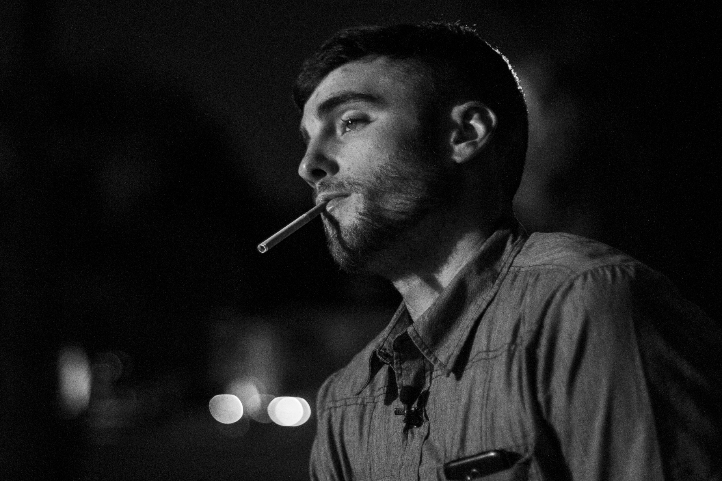"""Paul smokes a cigarette outside Devin's house. """"I wanna be the type of friend that my friends deserve; I wanna be the son that my mom deserves; I wanna be the boyfriend that my girlfriend deserves,"""" he said.  """"If there's no action behind my words, I'm not gonna change."""""""