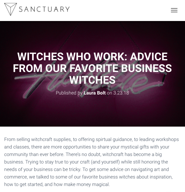 Witches Who Work: Advice From Our Favorite Business Witches