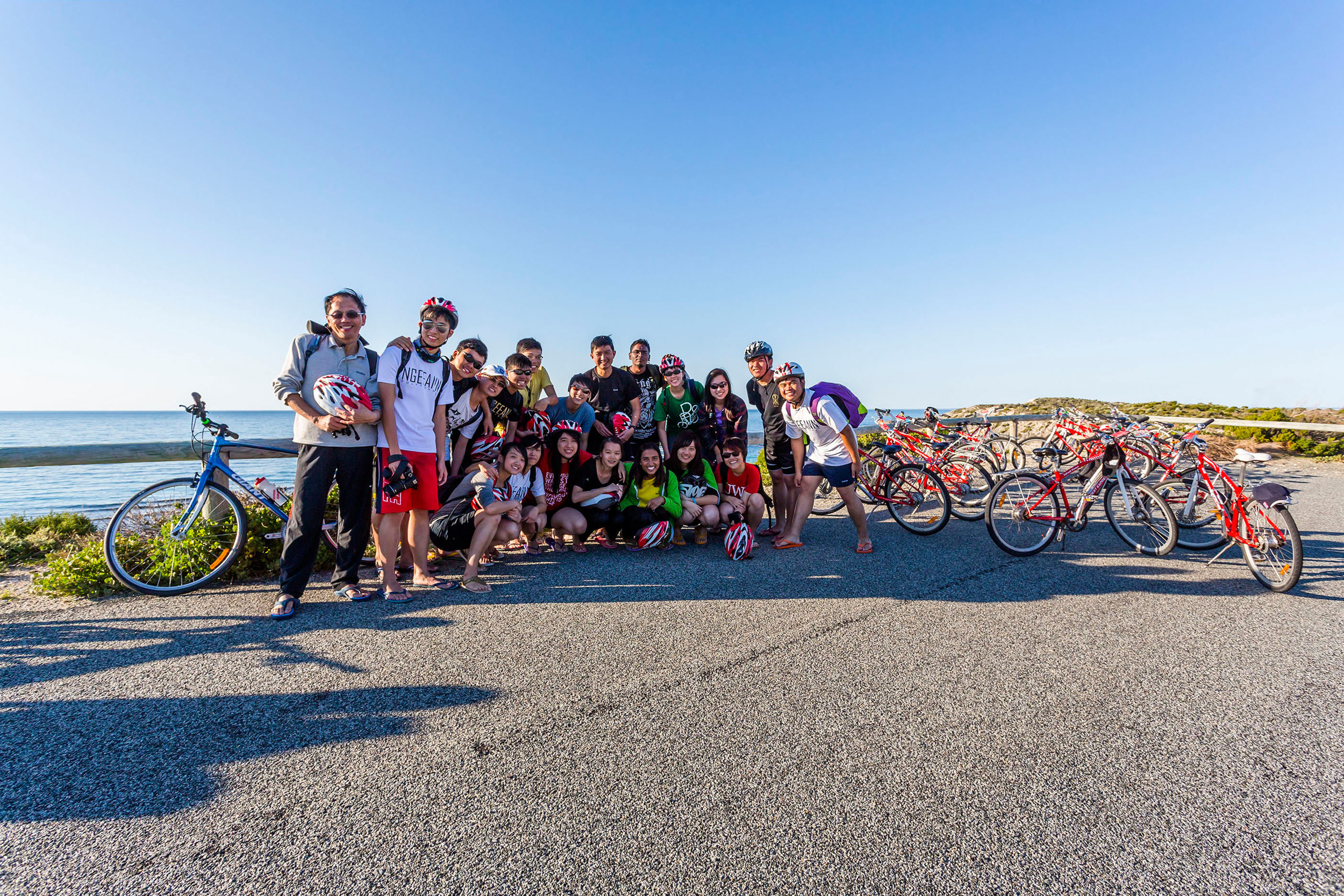 OMF team with theirbikes
