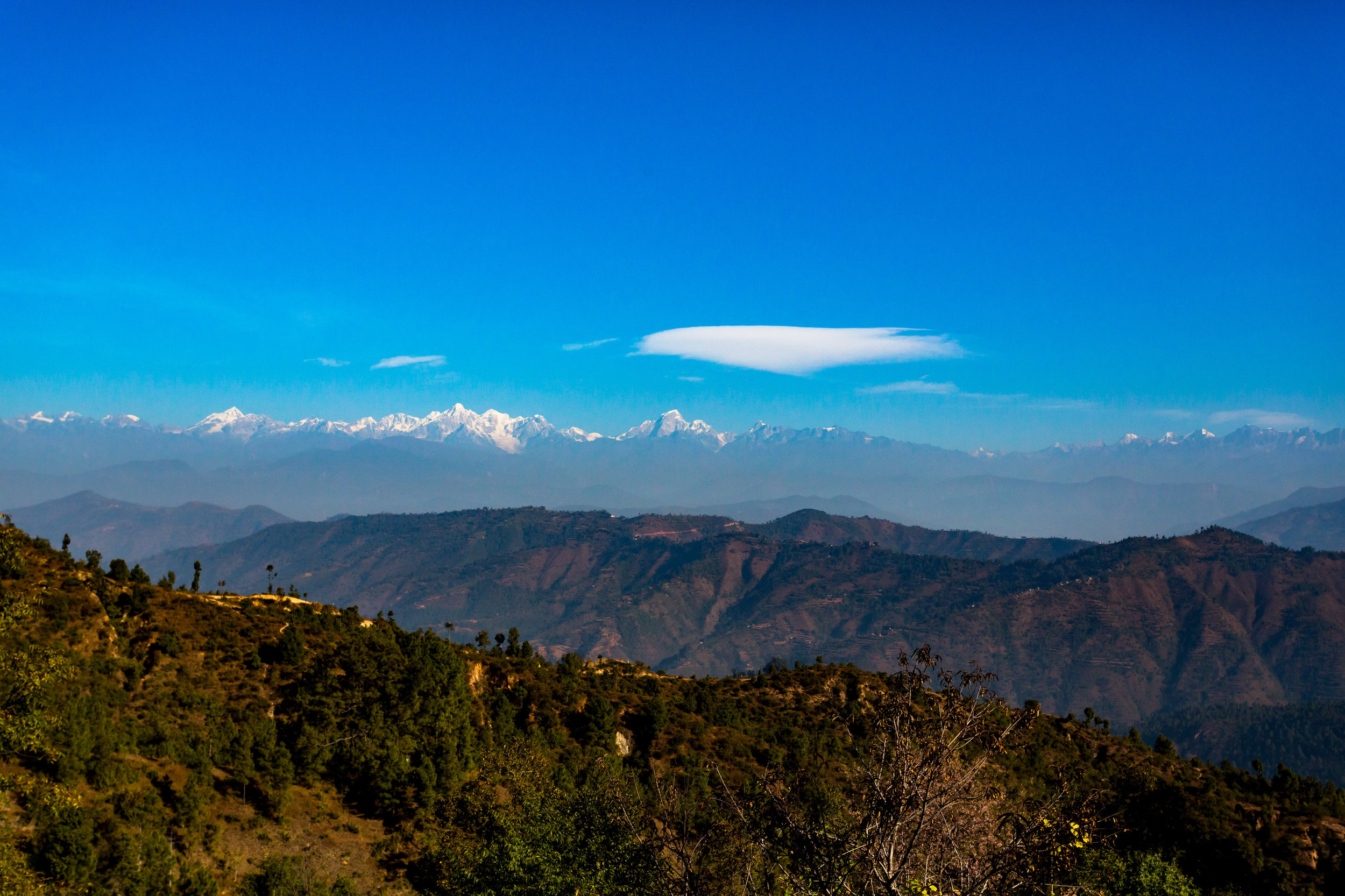 Himalayas is visible from various parts of Nepal?