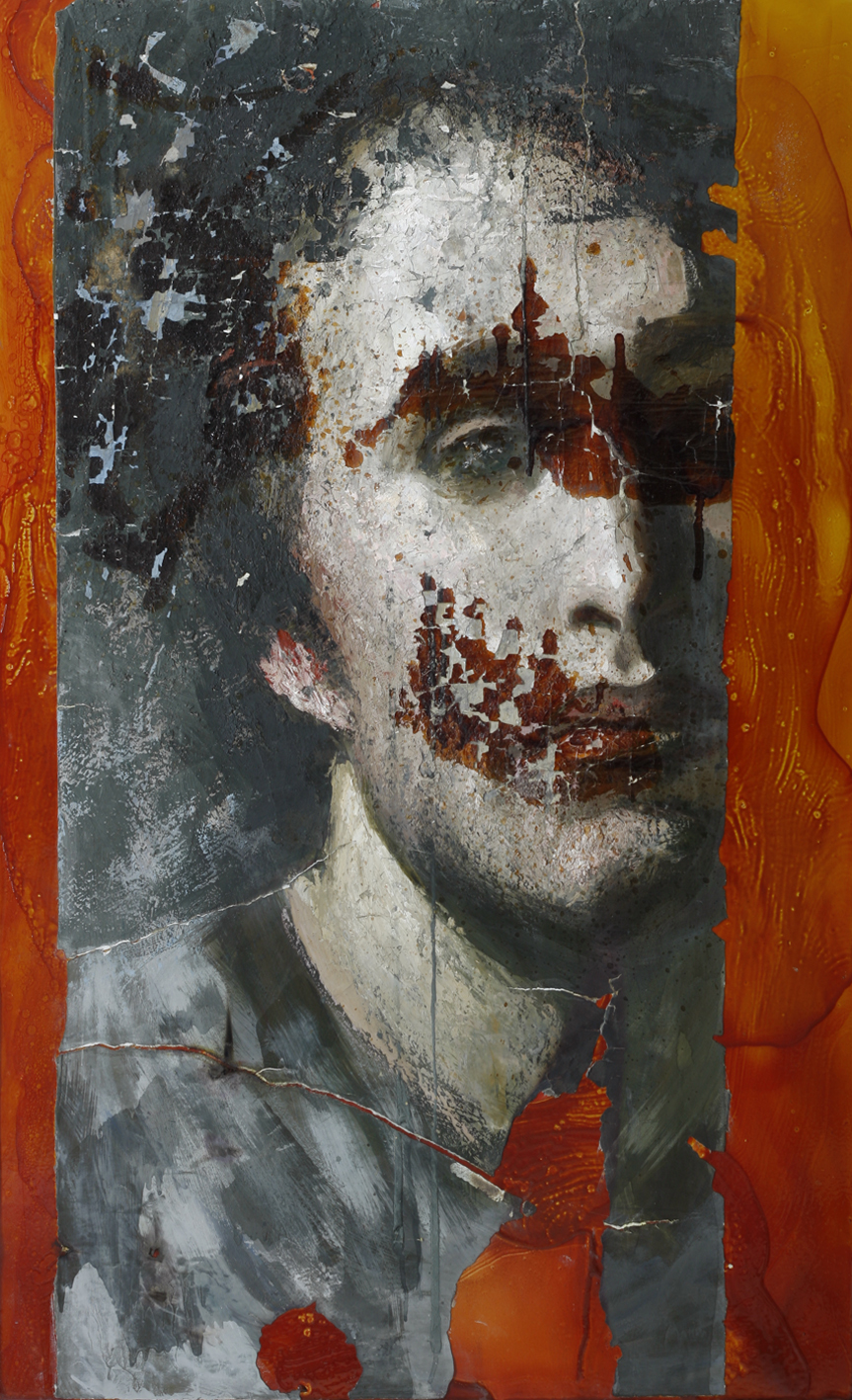 Jan Neva Faust Oil on aluminum 130 x 80 cm 2012