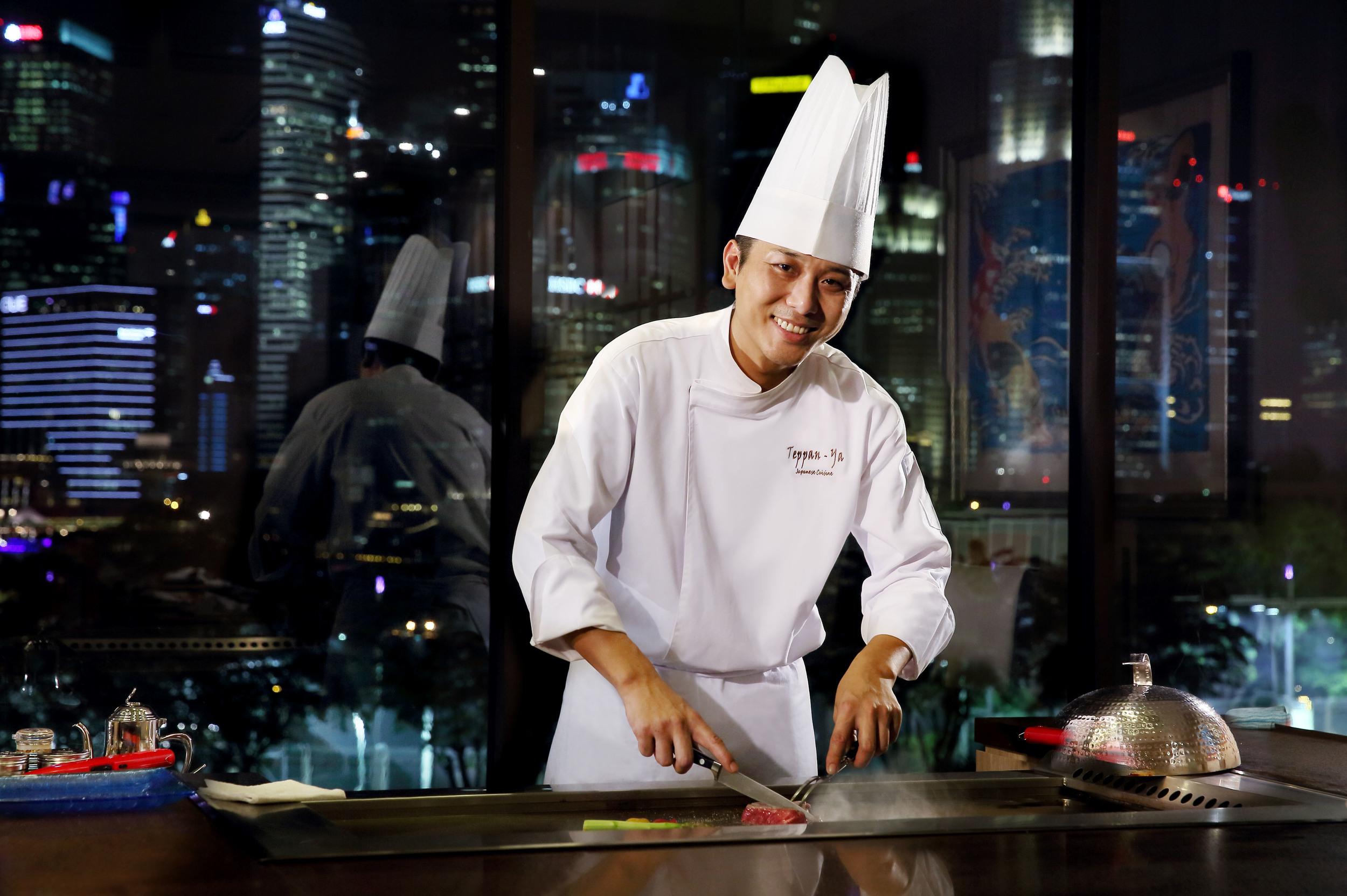 Chef at Teppanyaki counter.jpg