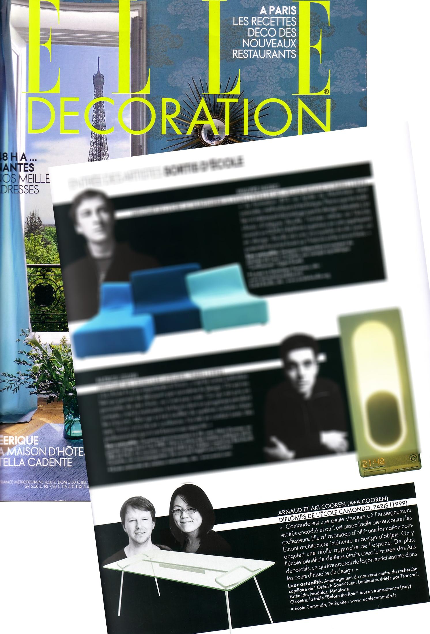 Elle Décoration (FR)   June 2009
