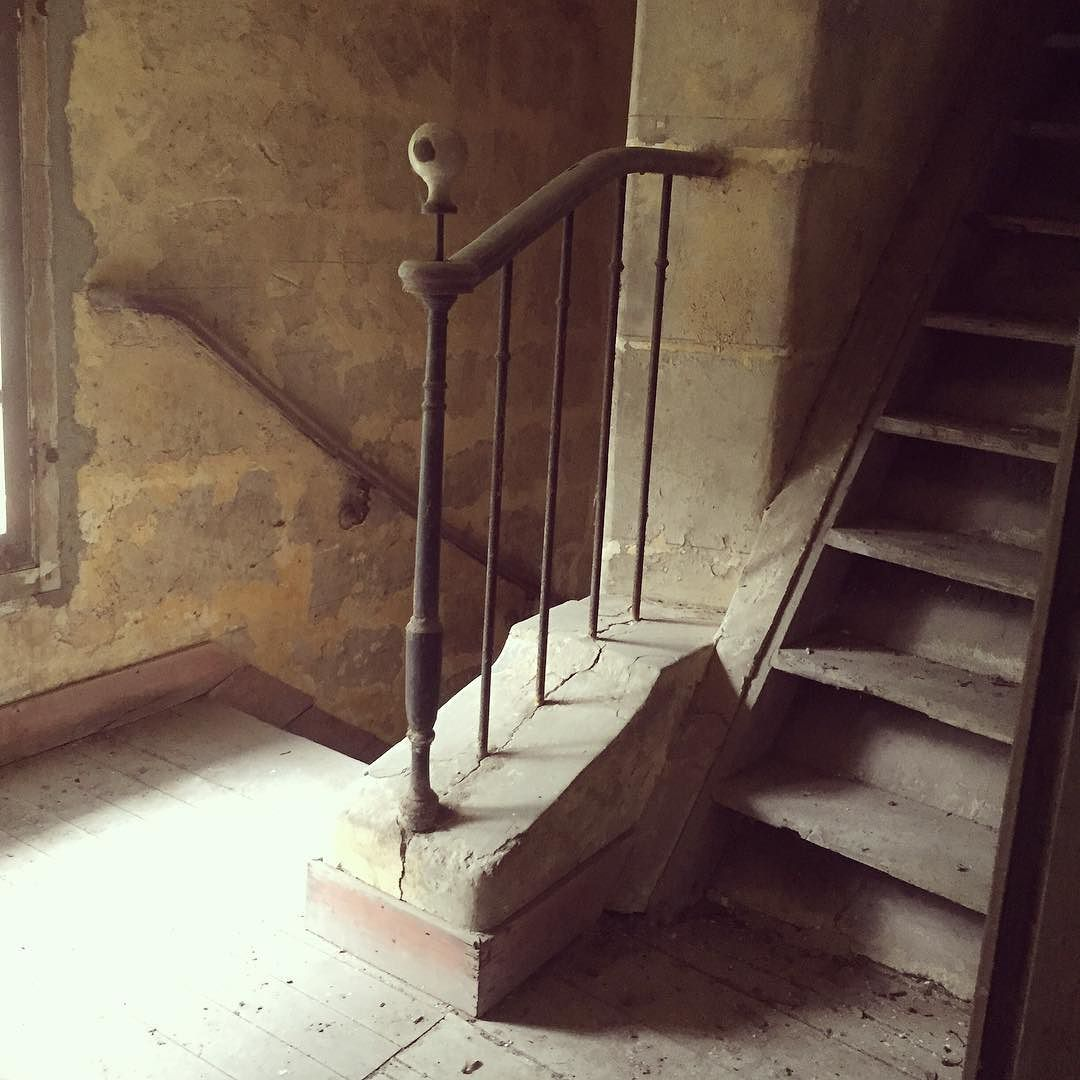 Staircase of old castle