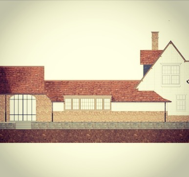 Part of residence V. -preliminary sketching #BDC