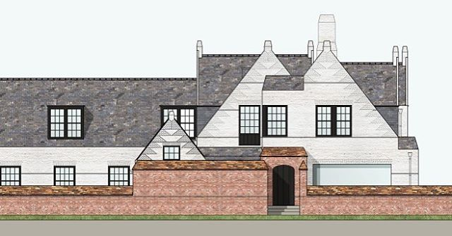 Materialized drawing of residence D. -#BDC