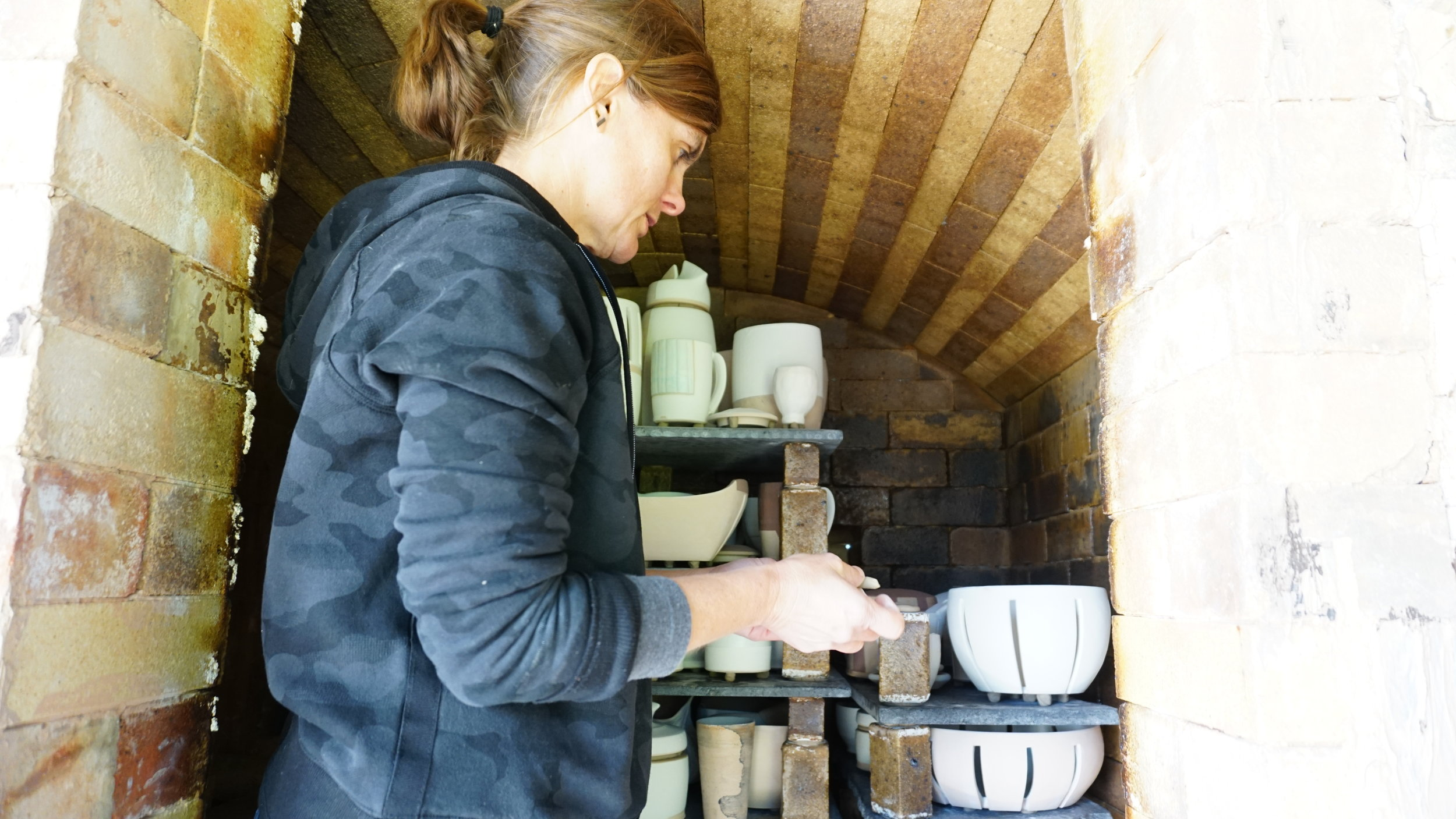 Please fill out the form below to get in touch with me about my pottery, kiln building availability, to schedule a studio visit or any other inquires regarding my work. (Photo Credit Marilyn Rivchin)