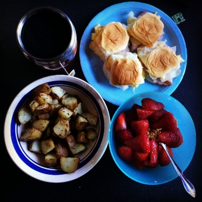 Serve with fresh fruit and hot tea!