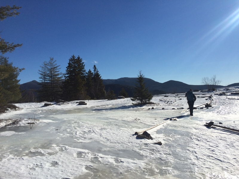 First set of icy slabs up Mount Welch.