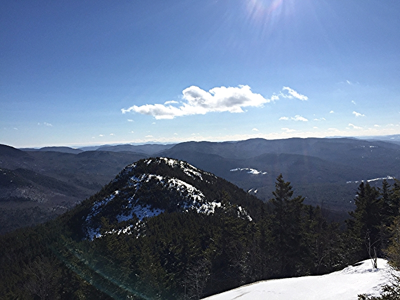 View of Mount Welch from the summit of Mount Dickey.