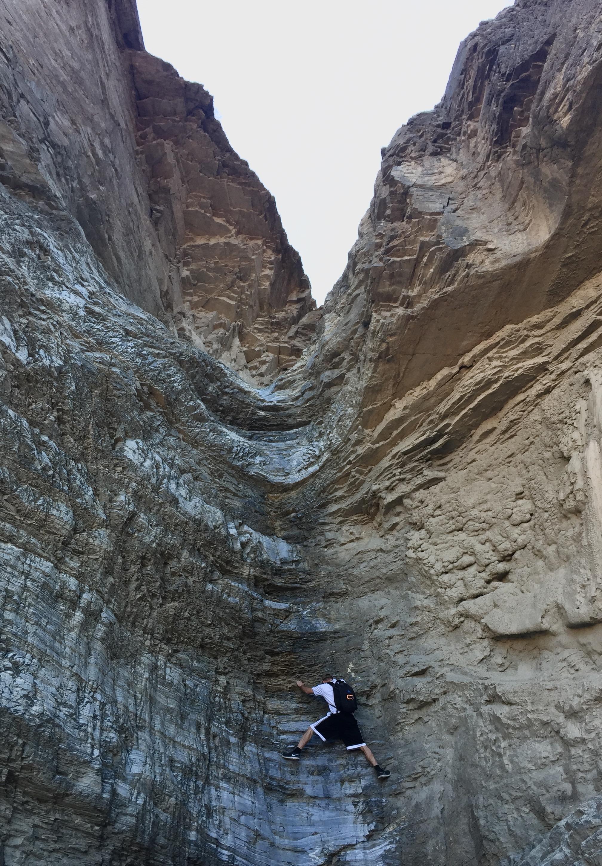 Where we had to turn around at Mosaic Canyon.