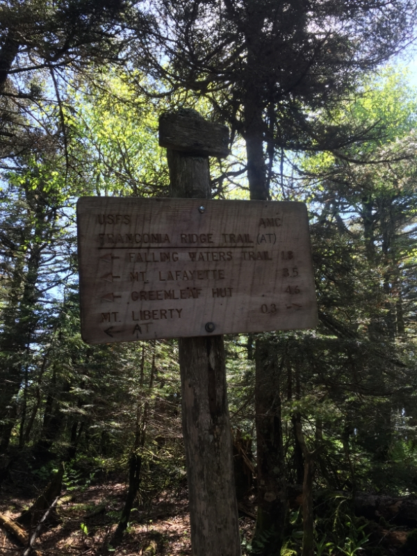 Sign up at Franconia Ridge. Almost there!