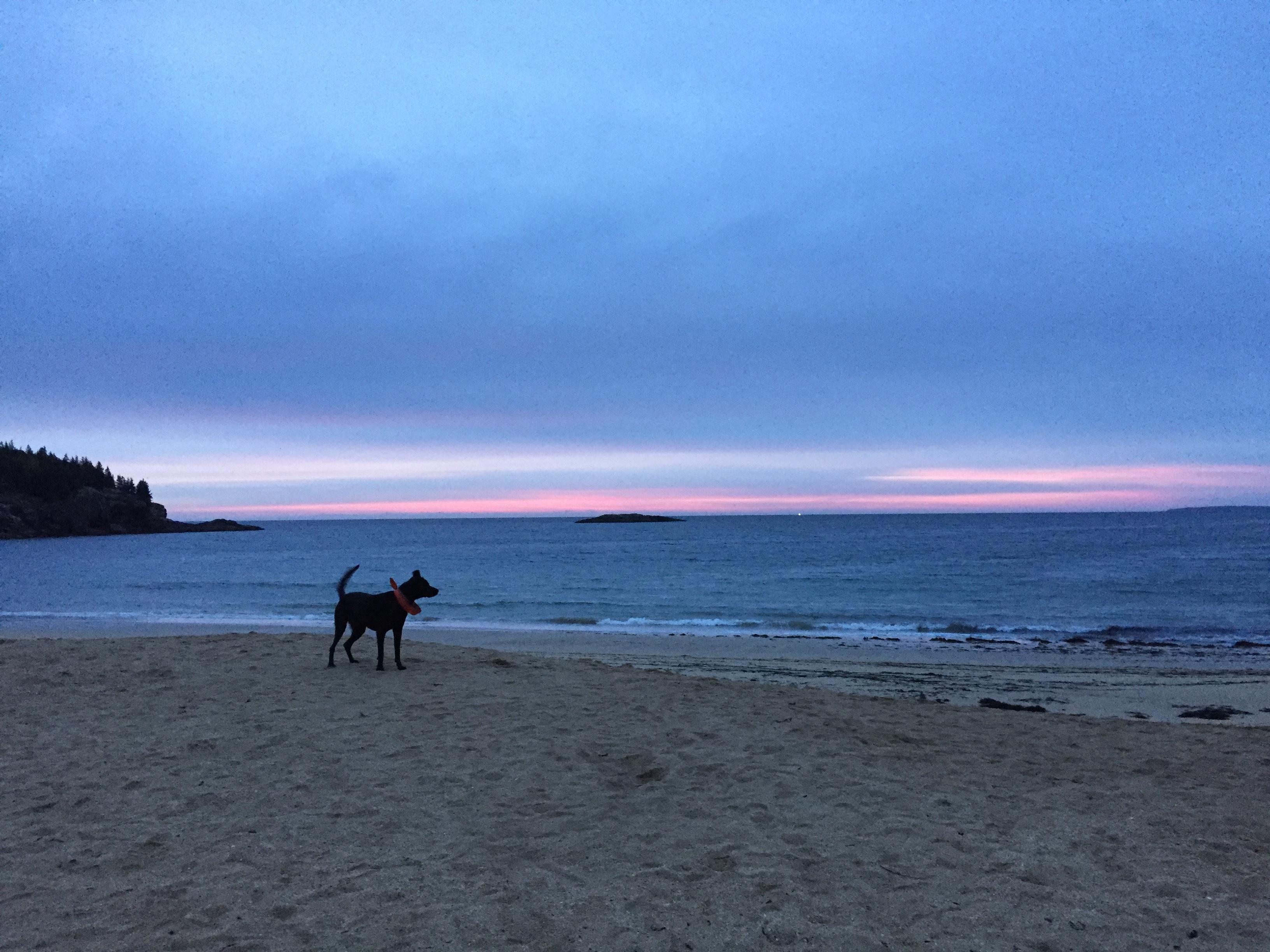 Sand Beach during sunrise.