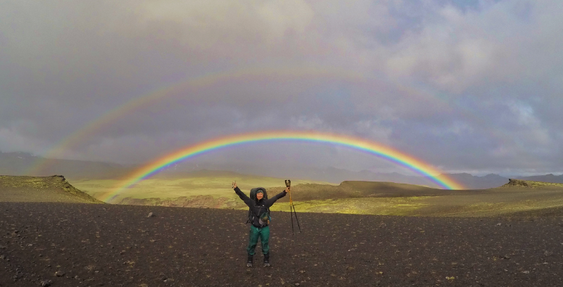 Double Rainbow in Iceland's Laugavegur Trail.
