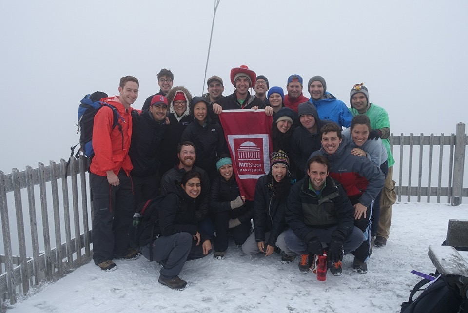 MIT Sloan on top of Mount Cannon