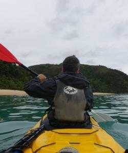 Abel tasman Kayaking (left) and Te Pukatea Bay (right)